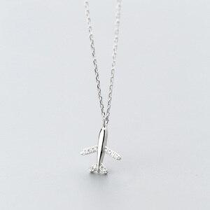 Image 5 - Trusta 100% 925 Sterling Silber Halskette Schmuck Reise Flugzeug 925 Anhänger Kurze Halskette Geschenk Für Frauen Mädchen Teens DS1344