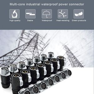 Image 5 - LP16 Plastic 2 3 4 5 6 7 8 9 Pin Power Industrial Circular Connector Outdoor IP67 Waterproof for Solar Power and Signal