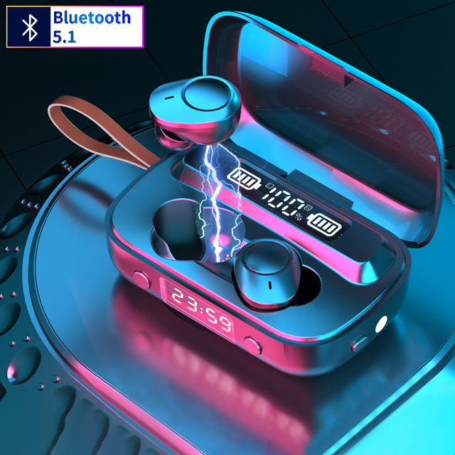 Mini Earbuds Wireless Bluetooth 5.1 Headset A13 Bluetoot headphones  HiFi Stereo Earphones TWS earphones for Sports and Gams 1
