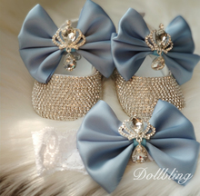 Baby Blue Absolutely Stunning Crown Jewery Diamond Shoes Perfect for All Special Occasion Pregnant Keepsakes Gifts