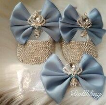 תינוק כחול מהממת כתר Jewery יהלומי נעלי מושלם לכל אירוע מיוחד בהריון מזכרות מתנות