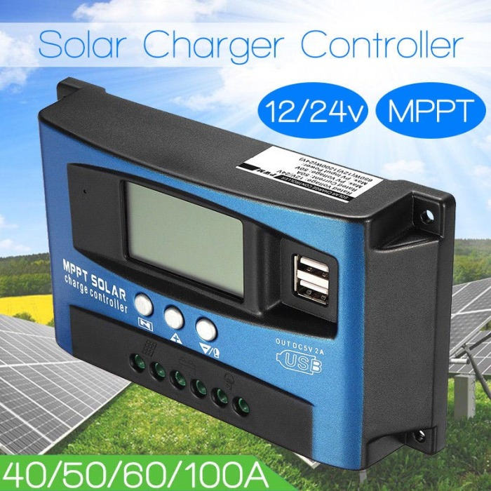 He6b4048b05b5405cab2f02a6eb39bf5dv - 40A-100A MPPT Solar Panel Regulator Charge Controller 12V/24V Auto Focus Tracking Device JAN88