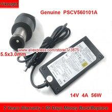 Adaptador genuíno da c.a. de pscv560101a 14v 4a 56w com fonte de alimentação do tamanho 5.5x3.0mm da tomada