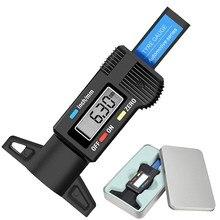 Medidor de profundidade do passo do pneu digital de alta precisão medidor de profundidade ferramenta de medição caliper calibres de espessura digital medidor de profundidade do pneu do carro