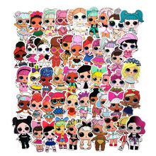 50pcs Personality Stickers Children's PVC Graffiti Doll Suitcase Boot Guitar Car Waterproof