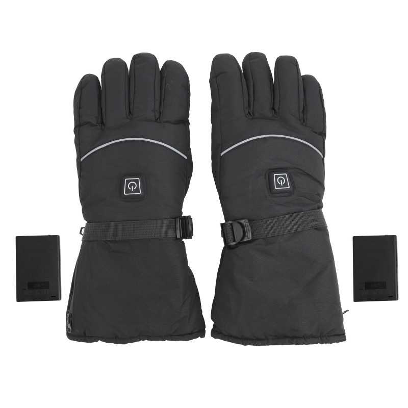 Ski Winter Heated Gloves Waterproof Battery Powered Warmer Heated Hand Wear Outdoor Motorcycle Gloves (Without Battery)
