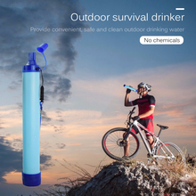 Outdoor Water Purifier Survival Drink Remove Cleaning Filter Travelling Easy Carrying