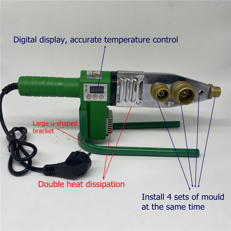 free shipping digital temperature display controled PPR  welding machine plastic welder 20-32mm for weld plastic pipes