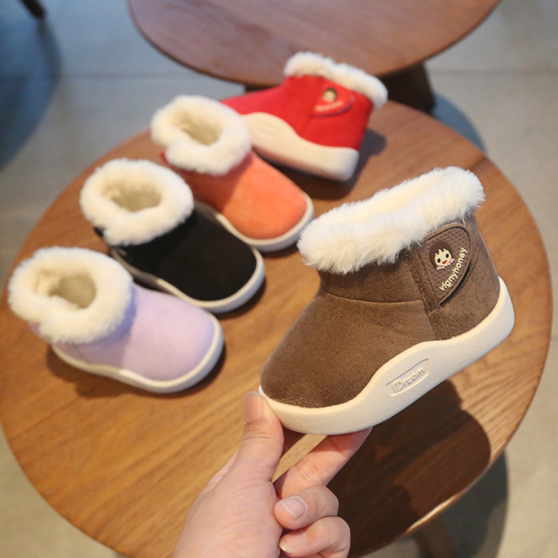 Infant Toddler Snow Boots 2019 Winter Baby Girls Boys Boots Warm Plush Outdoor Boots Soft Bottom Non-slip Kids Cotton Shoes