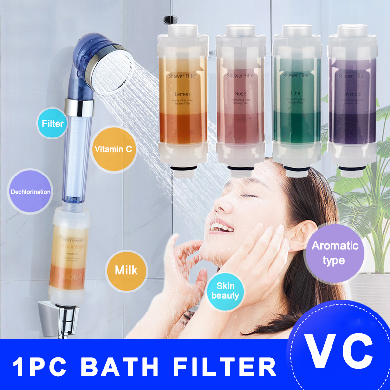 Новый 1 шт. витамин C душевая кабина фильтр аромат душевой фильтр головы Здоровая Кожа Уход за волосами VA88