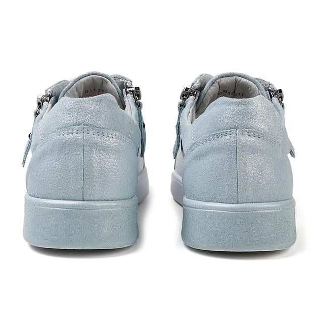 STQ 2020 جديد المرأة أحذية حقيقية أحذية رياضية من الجلد 4