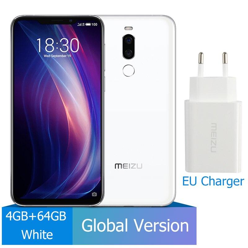 Meizu X8, 4 ГБ, 64 ГБ, глобальная версия, Смартфон Snapdragon 710, четыре ядра, мобильный телефон, фронтальная камера 20 МП, отпечаток пальца - Цвет: 4G 64G White