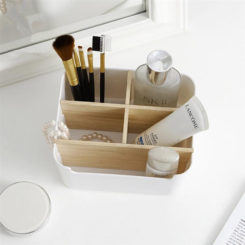5 Compartment Storage Box Stationery Holder Table Organizer  5