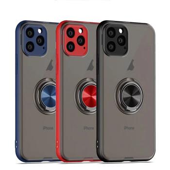 Magnetyczny stojak uchwyt etui na telefon dla iPhone 11 Pro 11 Pro Max XR XS Max X XS 11 7 8 6 6splus palec pierścień przezroczysty pancerz okładka tanie i dobre opinie TIKITAKA Etui z klapką Transparent Ring Magnetic Phone Case For iPhone Apple iphone ów Iphone 6 Iphone 6 plus IPhone 7 Plus