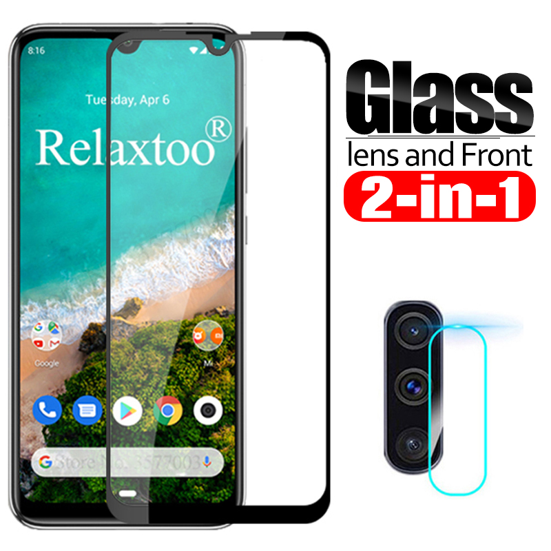 2 in 1 Camera lens <font><b>Glass</b></font> For <font><b>xiaomi</b></font> mi <font><b>a3</b></font> <font><b>Glass</b></font> screen protector on xiomi mi <font><b>a3</b></font> a 3 3a mia3 xiaomia3 protective Glas Film Cover image