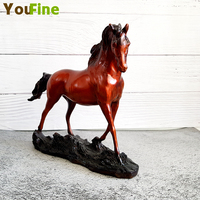 Desktop bronze horse sculpture Chinese lucky horse to success Business gift decoration decoration