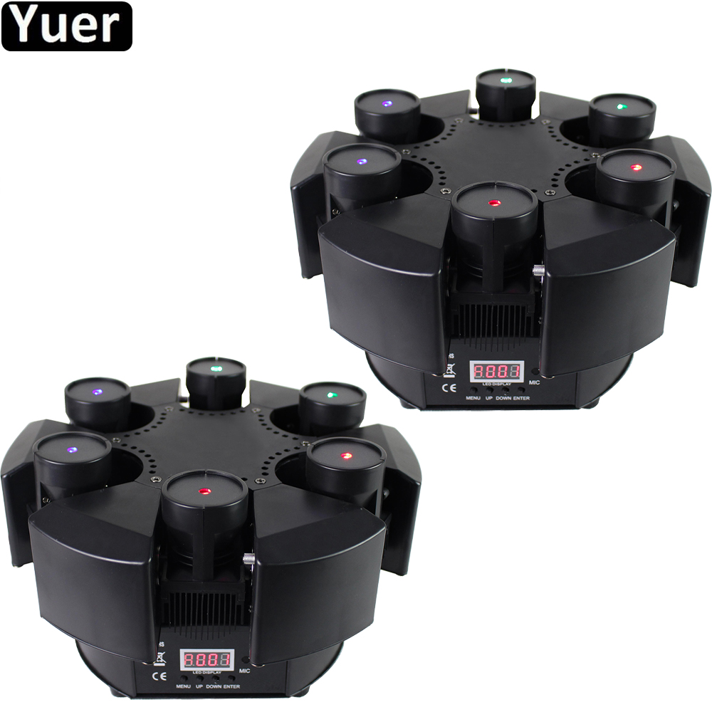 2Pcs/Lot 6 Heads Moving Head Beam Laser Light DMX512 RGB Color Laser Light DJ /Bar /Party /Show /Stage Christmas Night Lighting