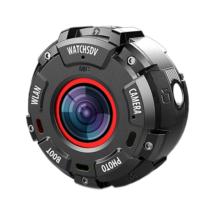 Mini Sport Action Camera HD1080P WiFi Waterproof 30M DV 5 Pcs Wide-Angle Lenses Night Version-Shooting Smart Watch Camera