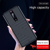 6800 Casos de Bateria mAh Para Xiao mi mi 9T Pro Caso a Energia da Bateria Externa Banco de Potência para Xiao mi mi 9T Cobrando Casos