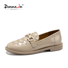 Female Shoes Moccasins Loafers Women Slip-On Natural-Leather Autumn Designer Donna-In