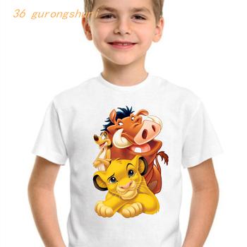 Moda dla dzieci t shirt dla chłopców t-shirty kawaii dziewczyna odzież król lew cartoon t-shirty topy dla dziewczynek ubrania dla dzieci odzież tanie i dobre opinie 36 GURONGSHUNI COTTON POLIESTER CN (pochodzenie) Lato 13-24m 25-36m 4-6y 7-12y 12 + y Damsko-męskie Na co dzień W stylu rysunkowym