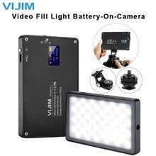 رقيقة جدا عكس الضوء LED الفيديو الضوئي 96 قطعة CRI96 OLED العرض مع البطارية على الكاميرا DSLR التصوير الإضاءة ملء الضوء