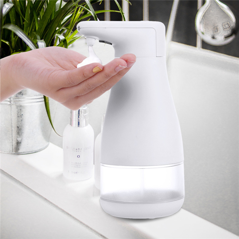 300ML Automatic Induction Sensor Foaming Soap Dispenser Infrared Foaming Hand Washer Foam Soap Dispensers For Bathroom/Kitchen
