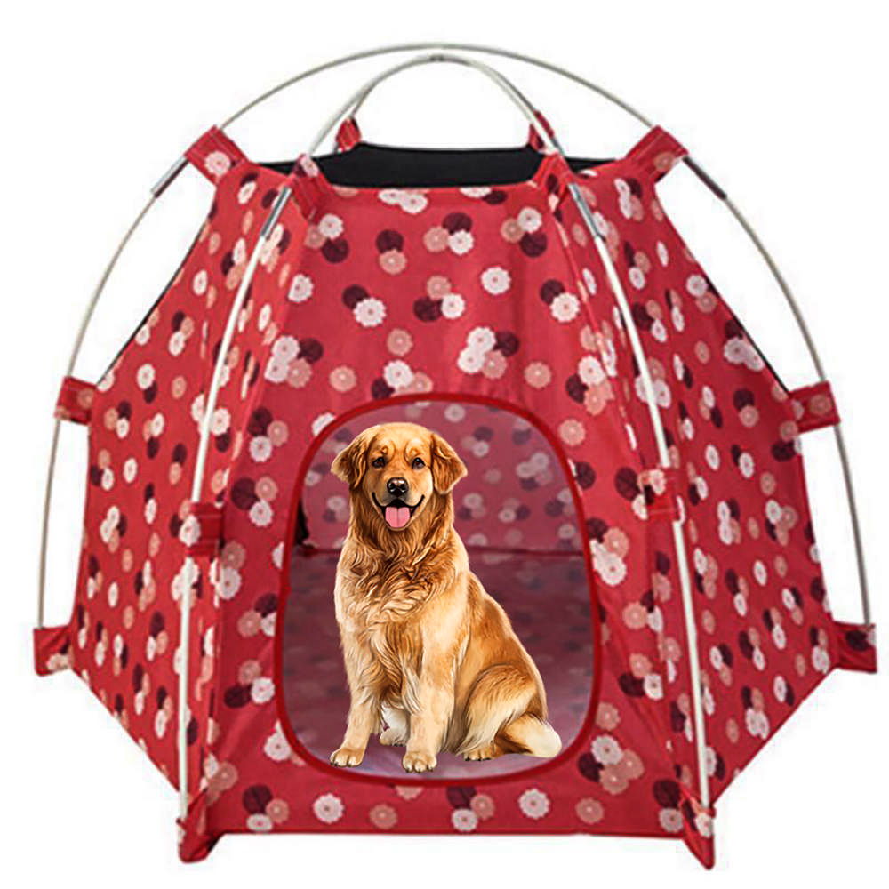 Portable Dog Cat Outdoor Folding Tent Camping Mesh Playpen Fun Carry bag Playpen Puppy Kennel Fence Outdoor Pet Supplies