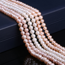 Natural Freshwater Cultured Pearls Beads Round 100% for Jewelry Making Necklace Bracelet 14 Strand