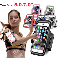 5 - 7inch Outdoor Sports Phone Holder Armband Case for Samsung Gym Running Phone Bag Arm Band Case for iPhone 12 Pro Max 11 x 7+