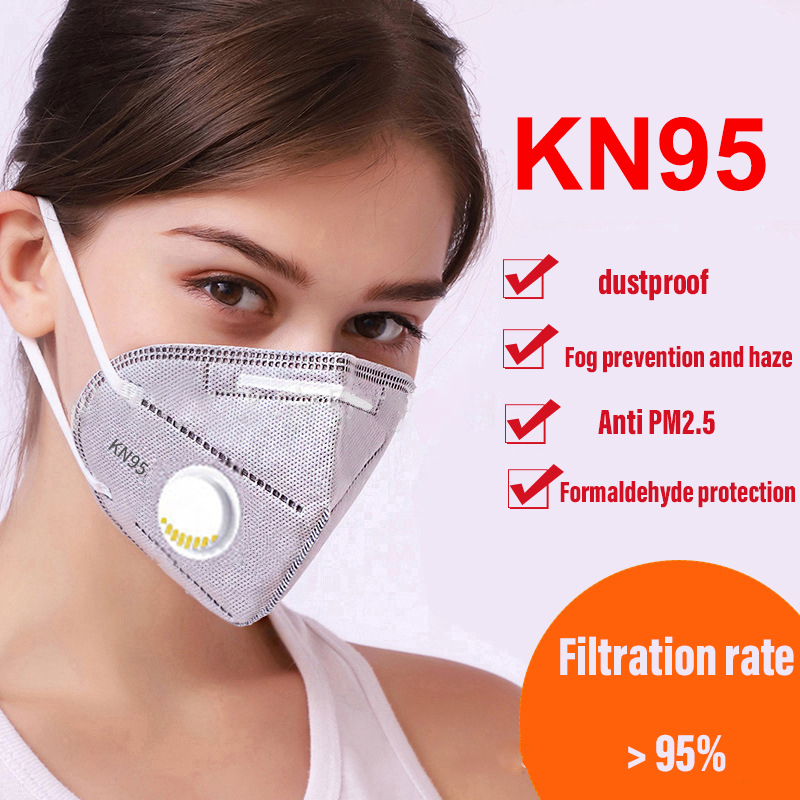 Kn95 Mask Anti Bacteria Pm2.5 Anti Dust Haze Formaldehyde  Mask Mouth Safety Non-woven Fabrics Mask For Germ Protection