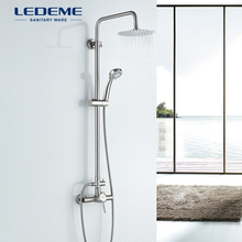 Bathroom Shower Faucet LEDEME Hand-Waterfall Stainless-Steel Rainfall with Tap-L72405
