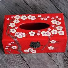 Китайские лакированные деревянные декоративные коробки для салфеток