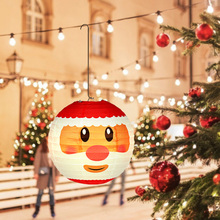 Supply Paper-Lantern Hanging-Ball-Lamp Christmas-Decorations Festival Round for Home