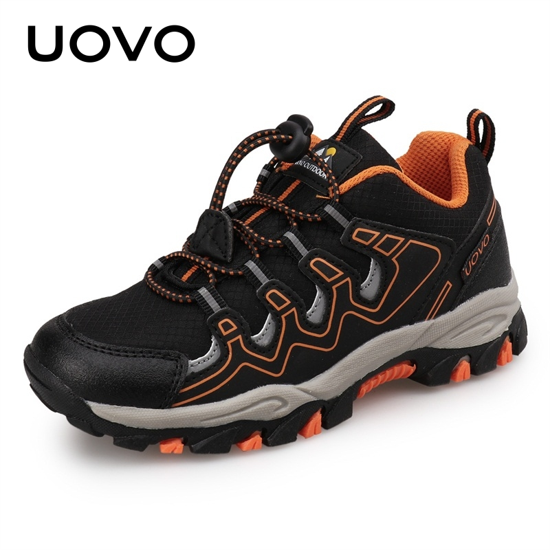UOVO 2021 New Boys Girls Sports Children Footwear Outdoor Breathable Kids Hiking Shoes Spring And Autumn Sneakers Eur #27-39