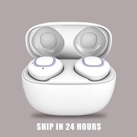 Fone de Ouvido Bluetooth com Caixa de Carregamento sem Fio Fone de Ouvido de Alta In-ear à Prova Fones de Ouvido para o Telefone Alta Fidelidade Dwaterproof Água Esporte Inteligente de