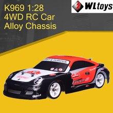 Wltoys 4WD K969 RC araba 1:28 dört tekerlekten çekiş Off-road 2.4G uzaktan kumanda alaşım şasi 30km yüksek hızlı çocuklar çocuk oyuncakları