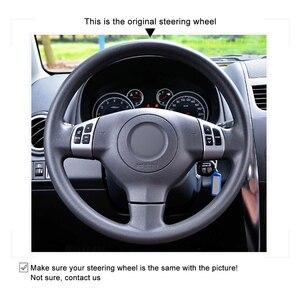 Image 3 - Hand genäht Schwarz Rot Leder Anti slip Auto Lenkrad Abdeckung für Suzuki SX4 2006 2013 Alto 2009 2015 Splash 2007