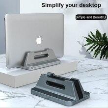Desktop Vertical Laptop Stand Adjustable Aluminum Alloy Laptop Holder Notebook Base For MacBook iPad Laptop Lenovo ThinkPad