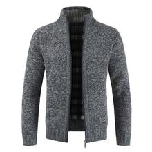 Men's Jacket Slim Fit Stand Collar Zipper Jacket Men Solid Cotton Thick Warm Jacket Men men bomber jacket
