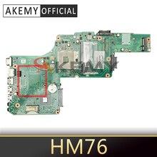 Материнская плата AKEMY PN 1310A2491305 SPS V000275290 для ноутбука Toshiba Satellite L855 Intel HM76 DDR3, материнская плата, полностью протестированная