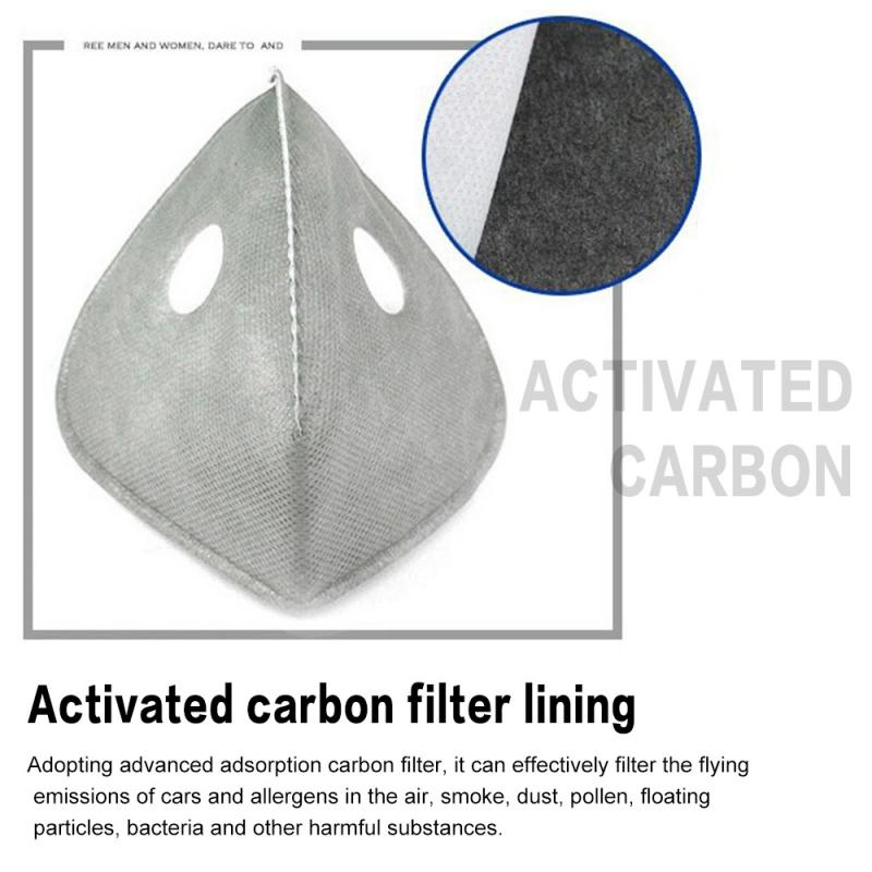 Hot Sale N95 Cycling Face Activated Carbon Masks Filter Anti-smog Mask Linering Cotton Filter Cartridge Dust Face Mask Accessory