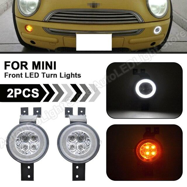 2XFull LED Halo Front LED Blinker Lichter Ecke Lampe Position Licht Montage Für MINI Cooper R50 R53 2000 2006 R52 2002 2008