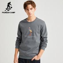 Pioneer Campo Felpe Uomini 100% Cotone Nero Grigio Inverno Caldo Causale Con Cappuccio Felpe Uomo AWY903658