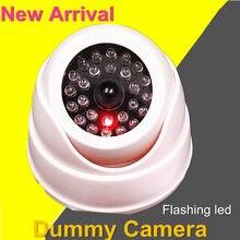 Cctv câmera de vigilância falsa, câmera de vigilância externa com luz led vermelha, wifi, dome e vídeo de simulação