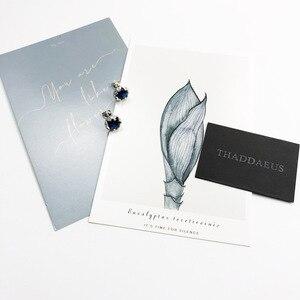 Image 3 - עגילי כהה כחול לוטוס, אירופה סגנון גלאם אופנה טובה Jewerly לנשים, 2017 מתנה ב 925 סטרלינג כסף, סופר להתמודד