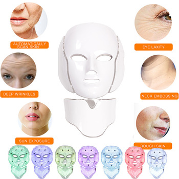 Dropshipping free shipping Led Facial Mask 3 Style for Choose Therapy Light Skin Care 3/7 Colors Electric Mask