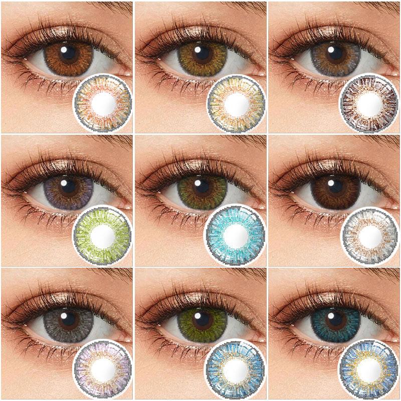 Цветные контакты ed, ежегодные контакты для глаз, 3 тона, контактные линзы для глаз, цветные контактные линзы без рецепта, разноцветные контак...