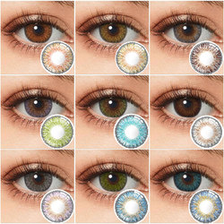 Colored Contacts Yearly Eye Contacts 3 Tone Contact Lenses For Eyes Non Prescription Color Contact Lens Multicolored Lenses