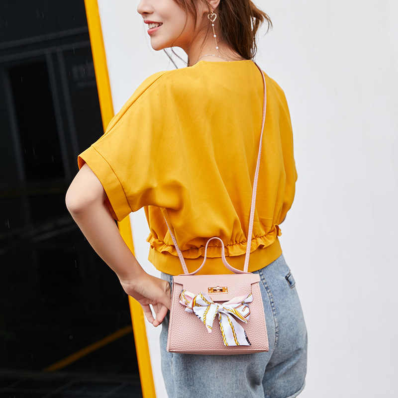 נשים כתף Crossbody תיק עור מפוצל אופנה עבור טלפון נייד מפתחות כסף